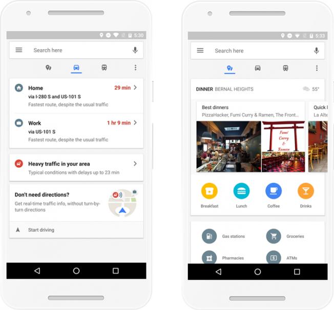 Информация о местах и транспорте в Google Maps для Android теперь доступна в одном месте