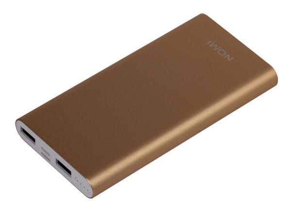 Универсальные мобильные батареи Nomi E050 5000 mAh и Nomi E100 10000 mAh уже в АЛЛО – Nomi E100 10 000 mAh золотой