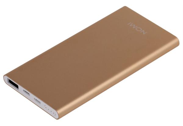 Универсальные мобильные батареи Nomi E050 5000 mAh и Nomi E100 10000 mAh уже в АЛЛО – Универсальная мобильная батарея Nomi E050 5000 mAh Gold