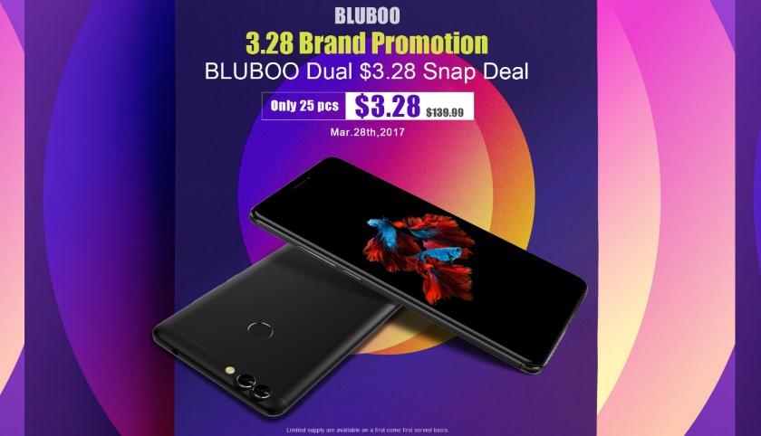 Скидки на Bluboo Dual и большая распродажа с 28 марта
