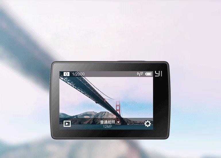Битва экшн-камер Xiaomi Yi 4K Action Camera против GoPro Hero 4 – Xiaomi Yi 4K дисплей