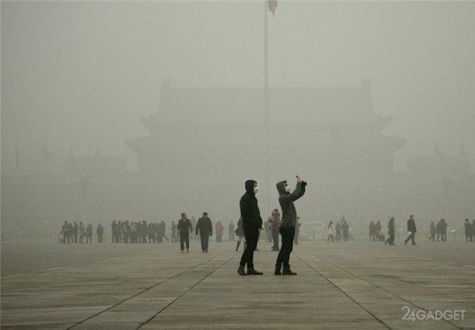 Пекин: электромобили против смога (5 фото + 2 видео)