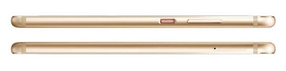 Huawei P10-эргономика модели Dazzling Gold