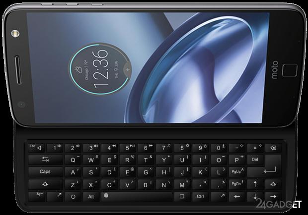 Клавиатура-слайдер для смартфона Moto Z (8 фото + видео)