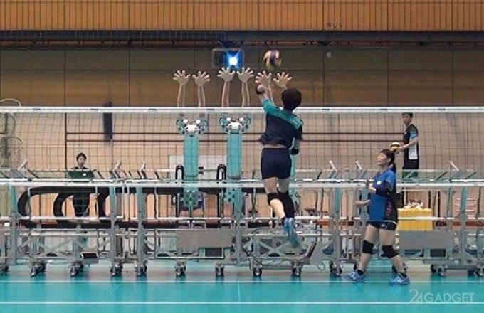 Японскую сборную по волейболу теперь тренируют роботы (видео)
