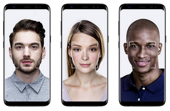 Samsung Galaxy S8-безопасность распознавание лиц