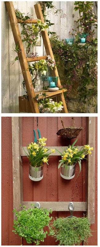 Лестница для цветов-декор сада