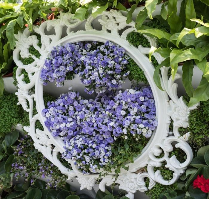 Зеркало-рама-с цветами