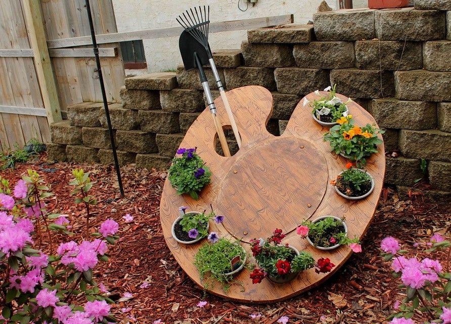Палитра художника-креатив для сада
