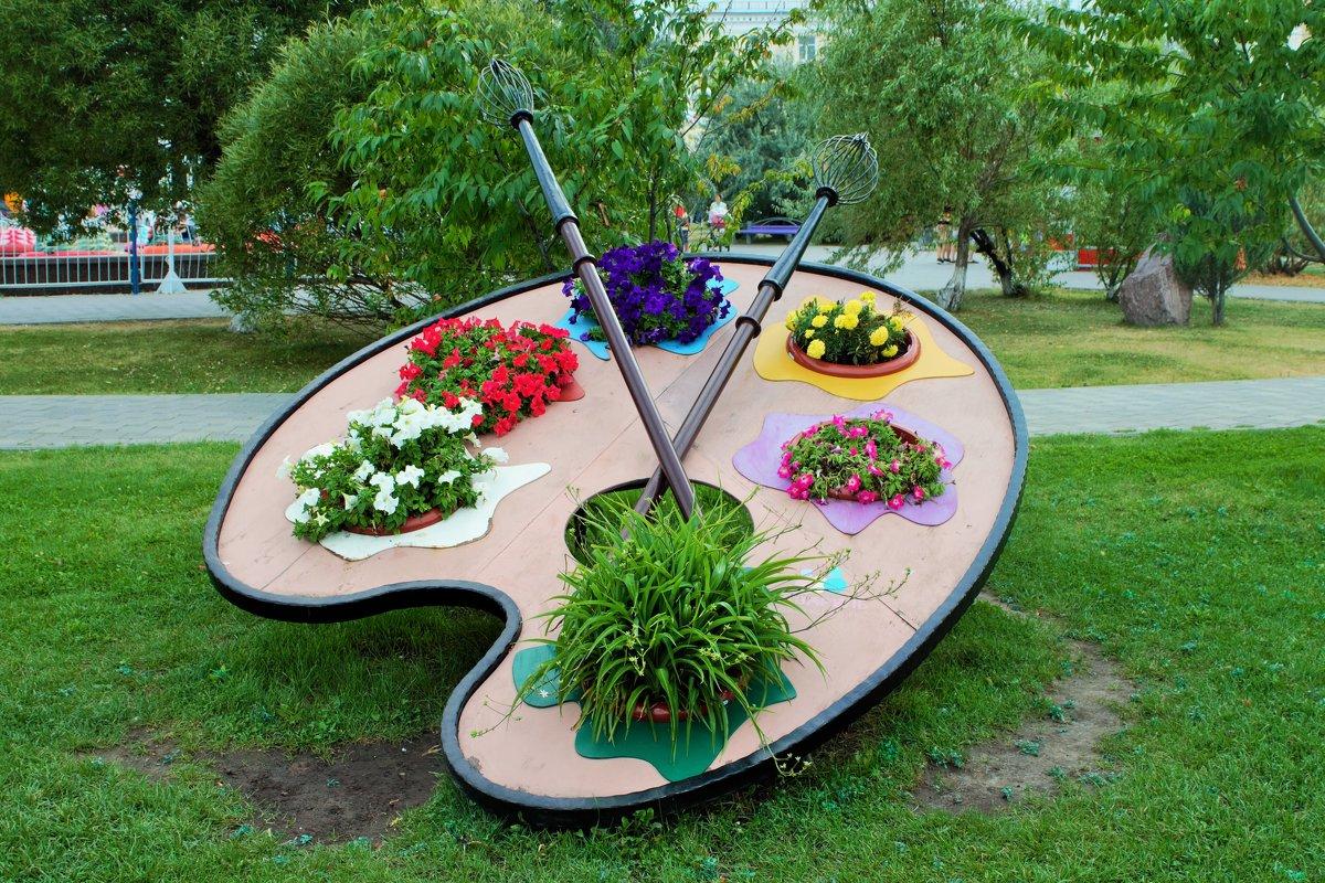Палитра художника-креатив для городского сада