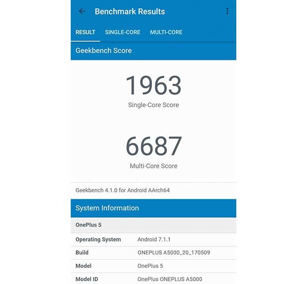 OnePlus 5 обогнал в Geekbench Galaxy S8 и Xperia XZ Premium - фото 1