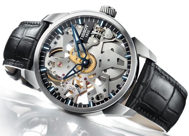История часового бренда Tissot сделано в Швейцарии – Часы с открытым механизмом