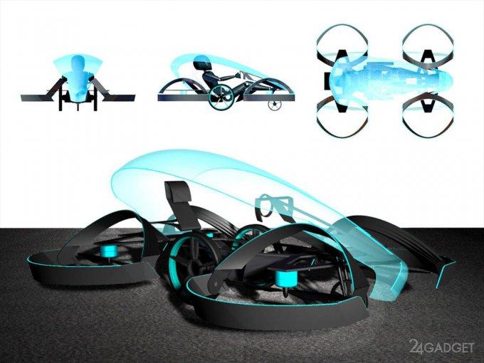 Toyota финансирует создание летающей машины (7 фото + 2 видео)