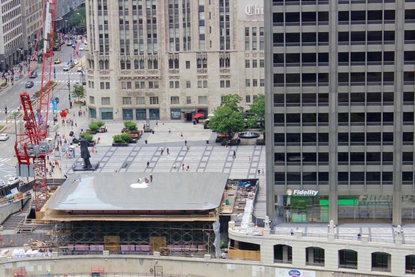 Новый Apple Store в Чикаго стоит 62 млн долларов и напоминает огромный MacBook