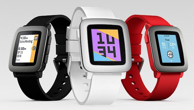 Смарт-часы Alcatel, Pebble и TomTom обзор популярных моделей – Pebble Time цвета