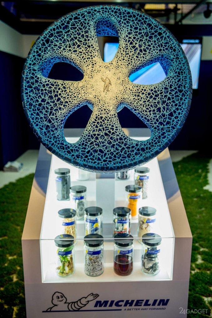 Автомобильное колесо Michelin Vision напечатают на 3D-принтере (14 фото + видео)