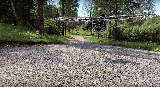 Пассажирский беспилотник на 76 роторах (3 фото + видео)