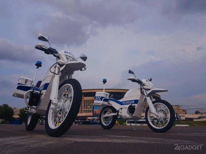 Полицейские электроциклы от концерна «Калашников» (5 фото + видео)