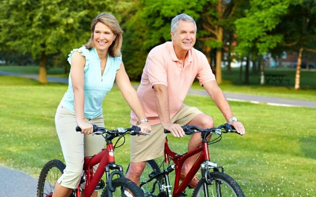 Велосипедные прогулки-вдвоем