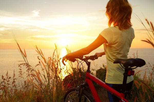 Велосипед-закат