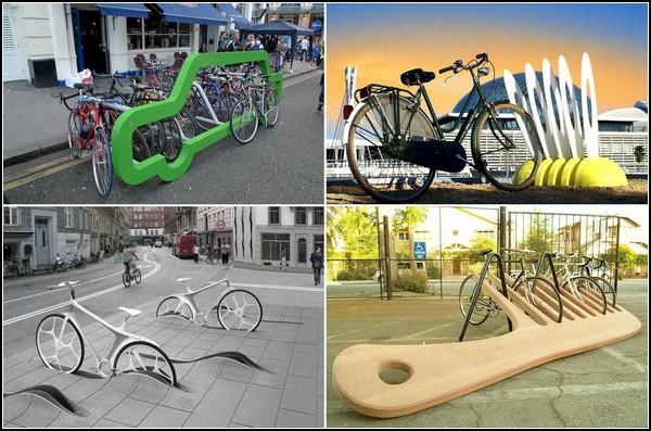 Необычные парковки для велосипеда