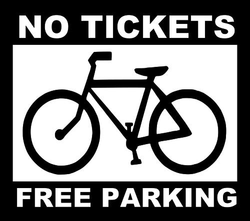 Бесплатная парковка для велосипедов-значок