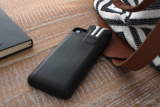 Основатель Pebble создал чехол для iPhone с местом под AirPods (7 фото + видео)