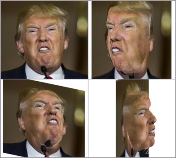 Нейросеть превращает обычные фотографии лиц в 3D-маски (3 фото)