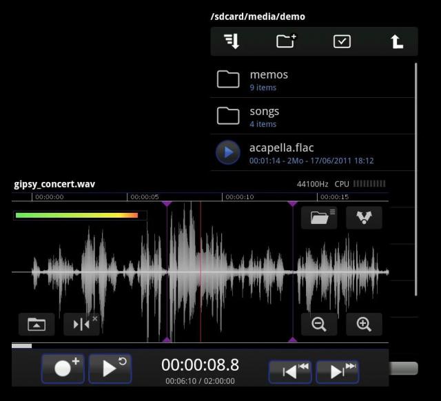 Лучшие Android-приложения для гитаристов - TapeMachine Recorder