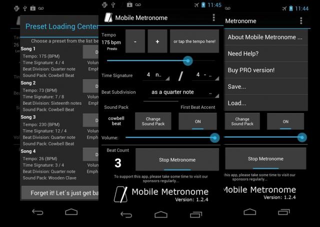 Лучшие Android-приложения для гитаристов - Mobile Metronome Pro