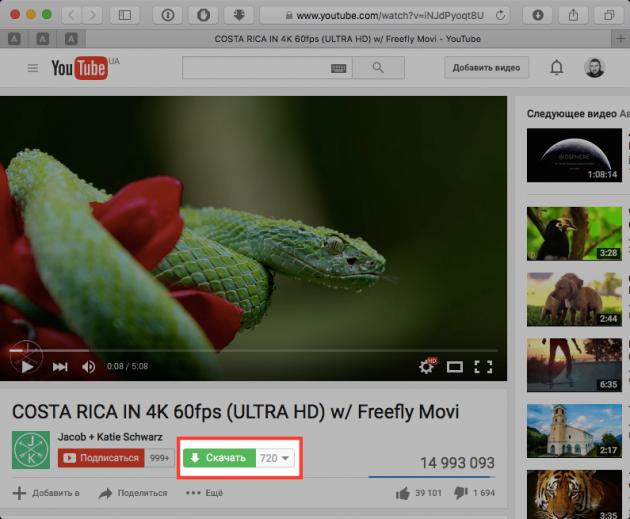 Как скачать видео с YouTube 3 способа - SaveFrom