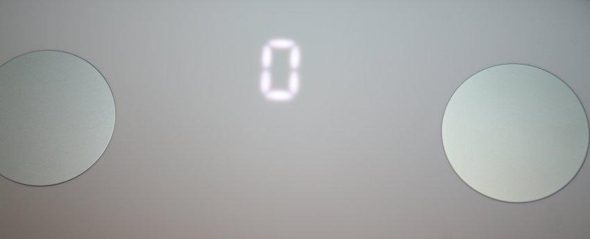 Xiaomi Mi Smart Scale 2-отображение цифр