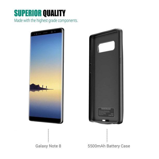 SlimPower - чехол-аккумулятор для Samsung Galaxy Note 8 емкостью 5500 мАч – фото 1