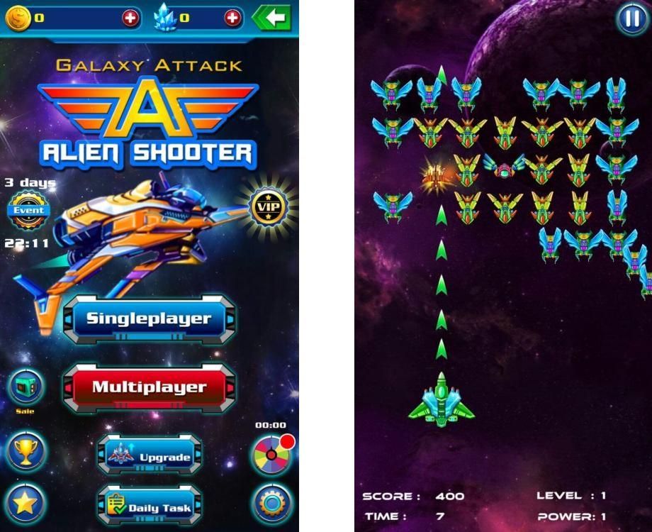 Топ-10 приложений для iOS и Android (16 - 22 октября) - Galaxy Attack. Alien Shooter (1)