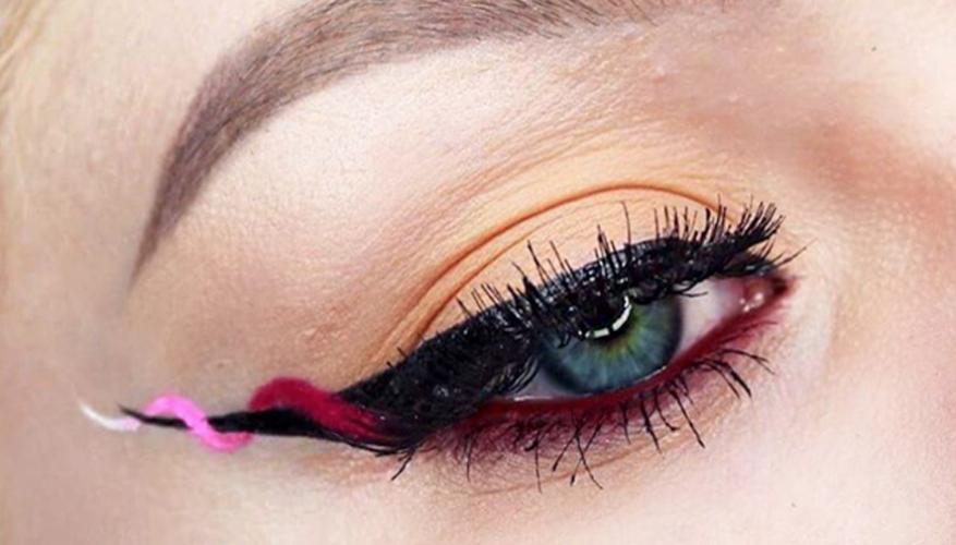 Дикий плющ-стрелки макияж