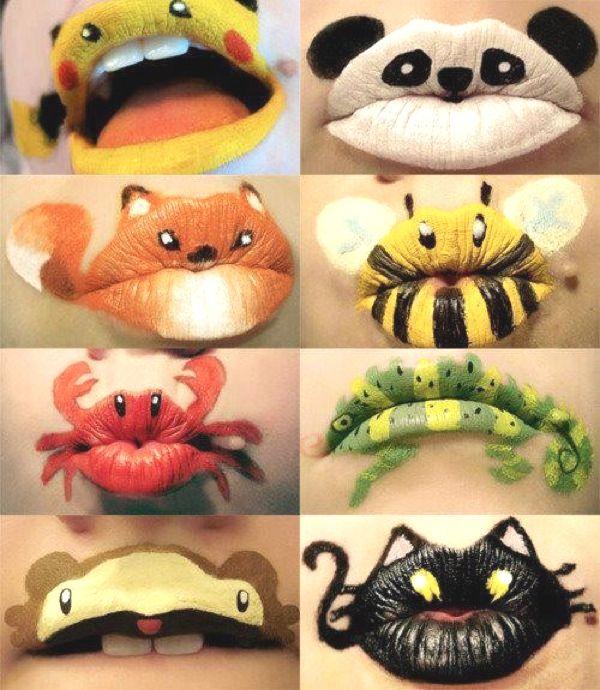 Макияж губ для детей-идеи для Хэллоуина