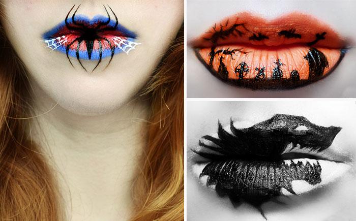 Lip art-для Хэллоуина