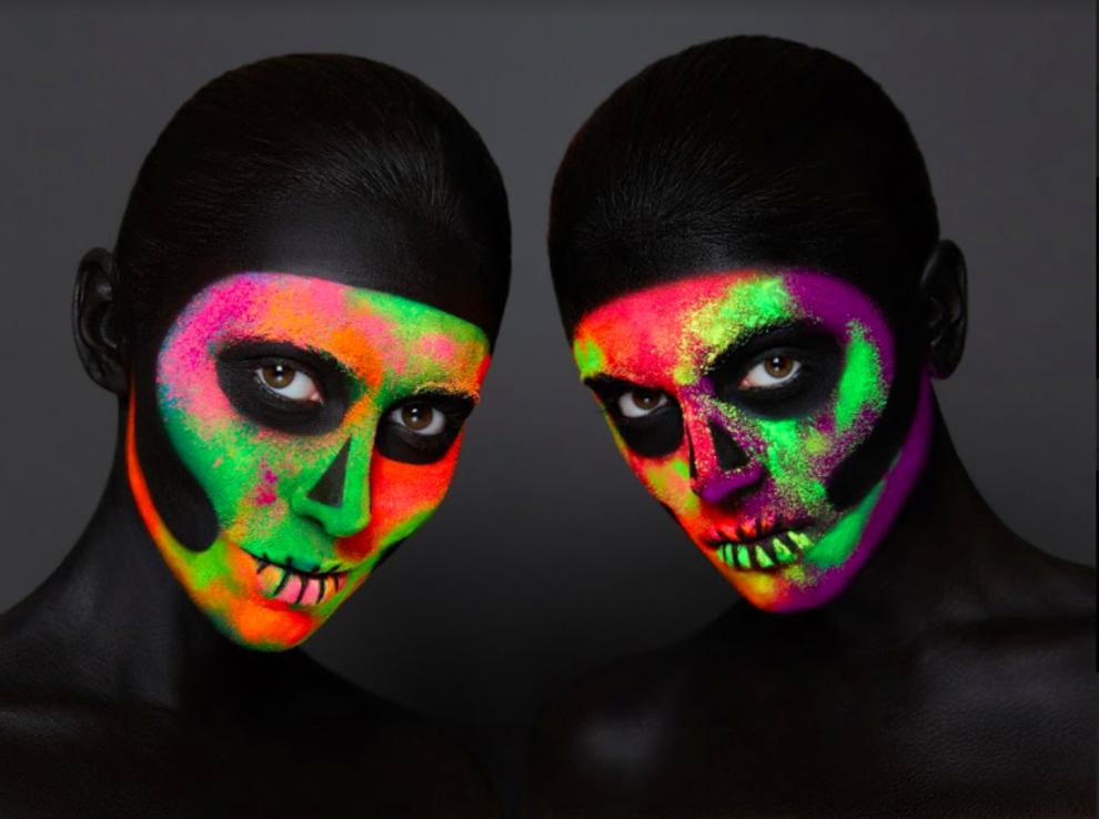 Halloween-неоновый череп