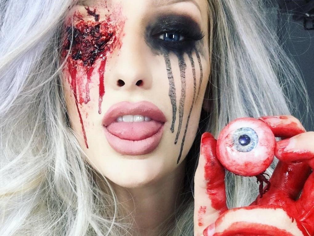 Страшный макияж-подготовка к Хэллоуину