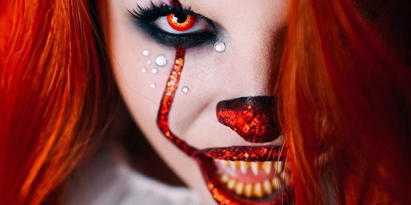 Идеи для Хэллоуина-жуткий макияж