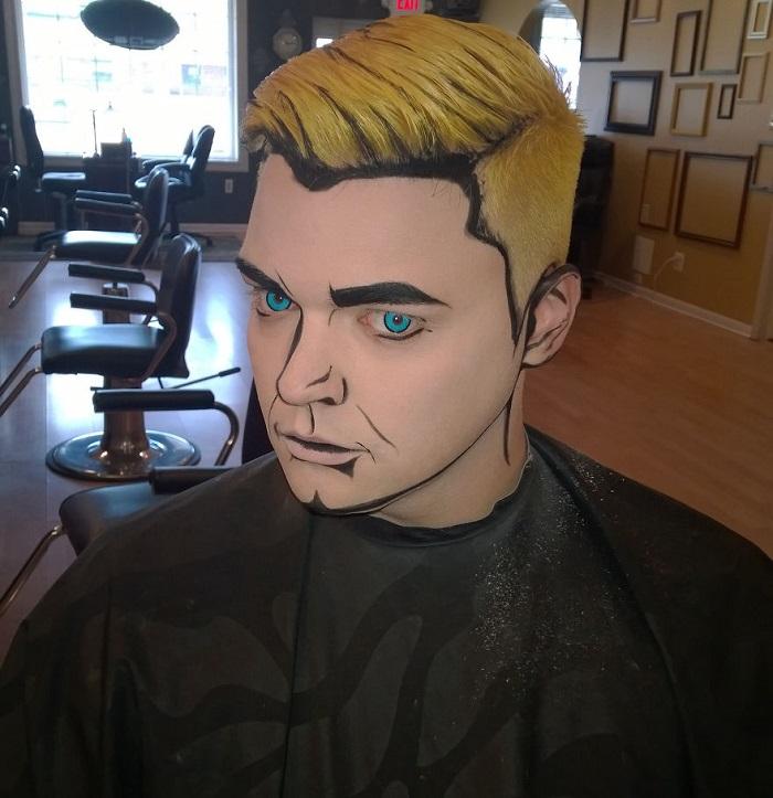 Идеи для Хэллоуина-парень в стиле поп-арт
