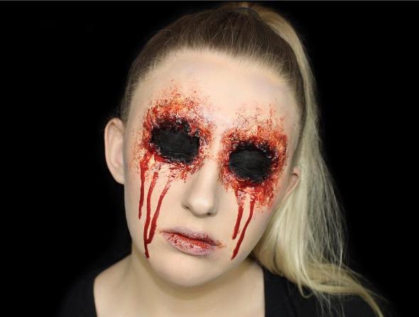 Easy Missing Eye-Halloween Makeup