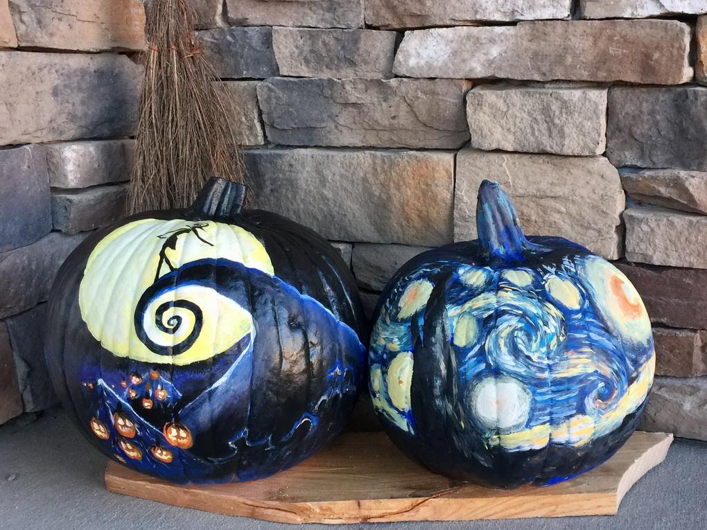Шедевральные тыквы-подготовка к Хэллоуину