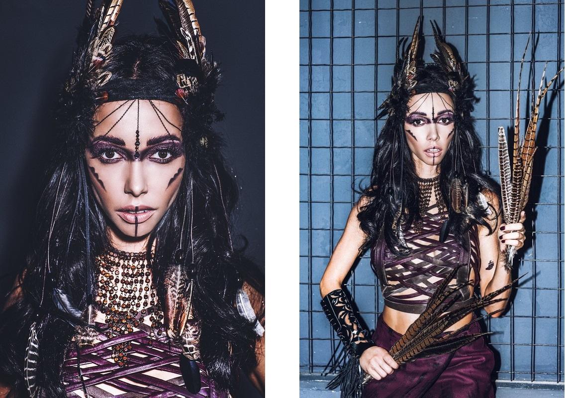 Екатерина Кухар-макияж в стиле voodoo