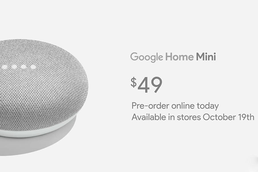Умный динамик Google Home Mini