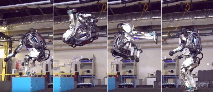 Робот Atlas демонстрирует чудеса акробатики (видео)