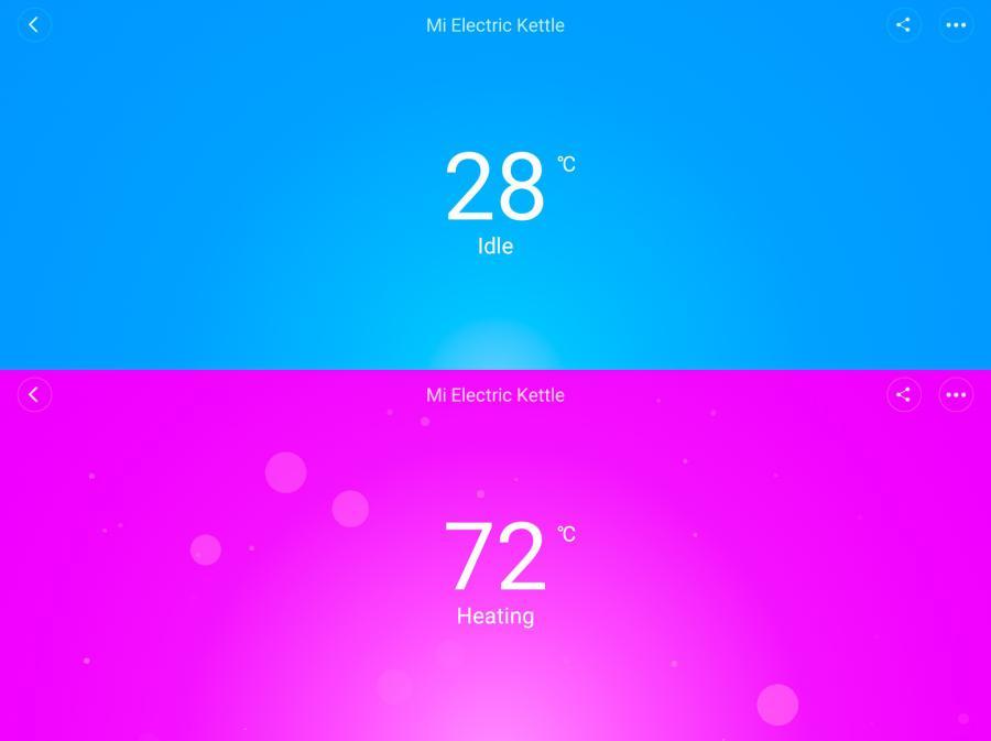 Обзор умного чайника Xiaomi Mijia Kettle – Смена интерфейса по мере нагрева воды