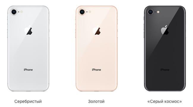 Цветовые решения iPhone 8