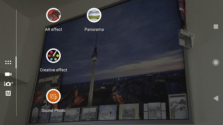 Интерфейс камеры Sony Xperia XZ1