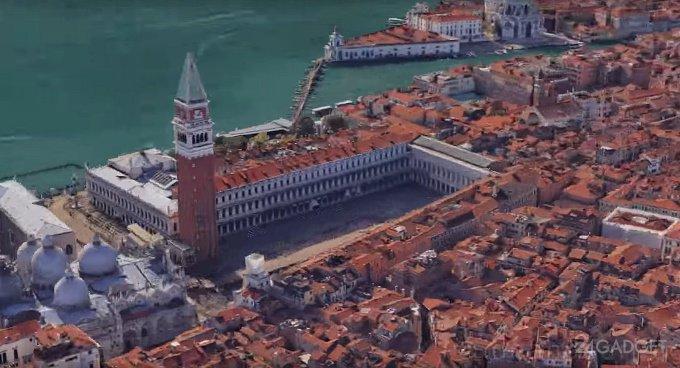 A round trip of 3300 screenshots of Google maps (video)